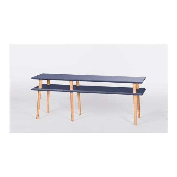 Grafitovosivý konferenčný stolík Ragaba Mugo,dĺžka139 cm