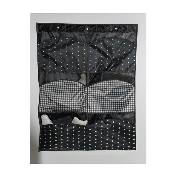 Čierny závesný organizér s 6 priehradkami Compactor Pockets