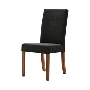 Čierna stolička s tmavohnedými nohami Ted Lapidus Maison Tonka
