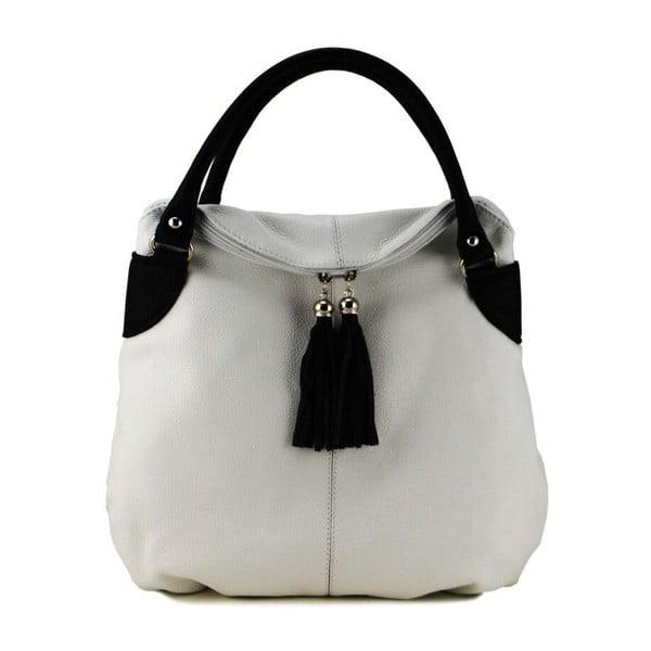 Kožená kabelka Blanca Bianco Nero