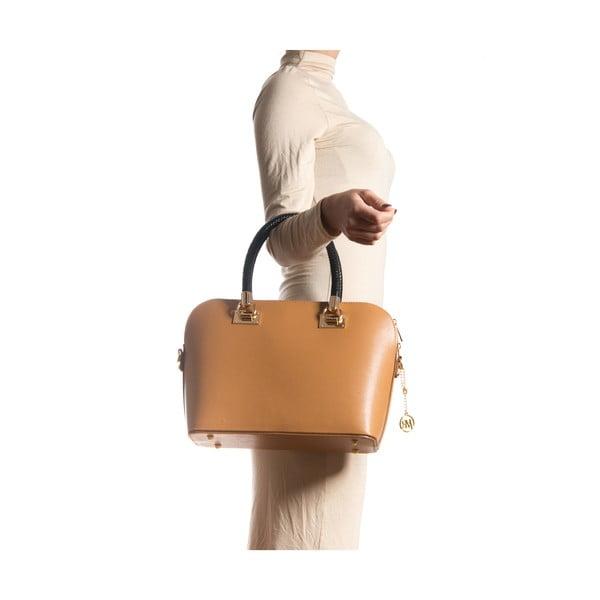 Kožená kabelka Elnora, koňak