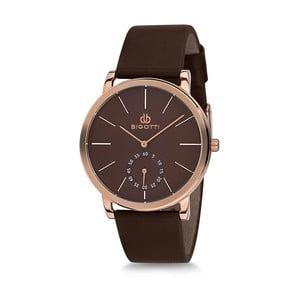 Pánske hodinky s čiernym koženým remienkom Bigotti Milano Luxury