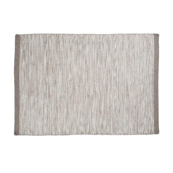 Vlnený koberec Asko, 170x240 cm, strieborný