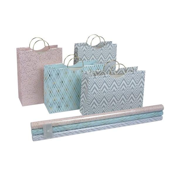 Sada 4 darčekových tašiek a baliaceho papiera Stockholm