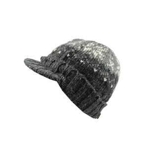 Vlnená čiapka so šiltom Sivá vločka