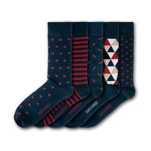 Sada 5 ponožiek Black&Parker London Bennetts Water Gardens, veľkosť 37 – 43