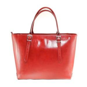 Červená kožená kabelka Chicca Borse Tami