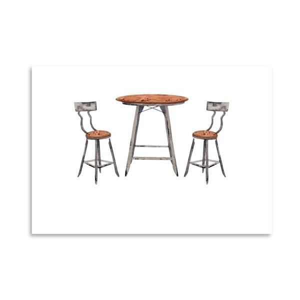 Autorský plagát Café Table, 30x42 m