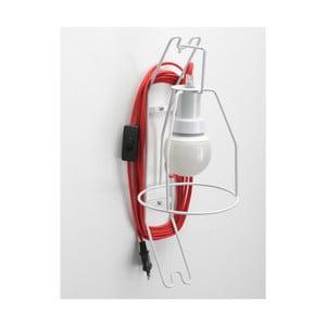 Nástenná lampa Walker, červený kábel