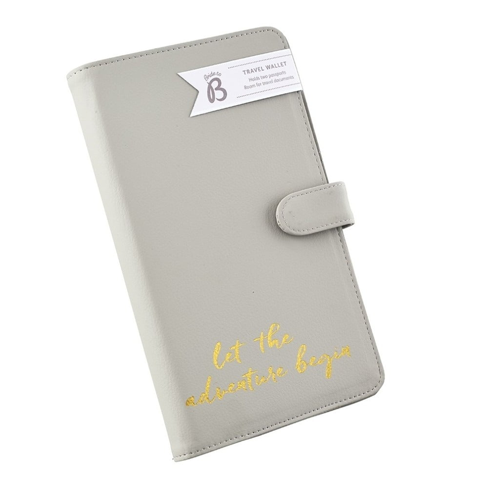 Béžová cestovná peňaženka na doklady Busy B