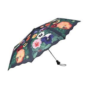 Skladací dáždnik Von Lilienfeld Pansies, ø 90 cm