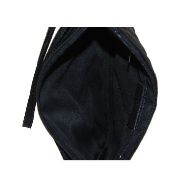 Kožená listová kabelka Terances Nero