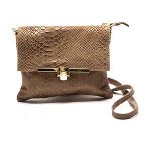 Béžová kožená kabelka Sofia Cardoni Cira