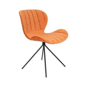 Sada 2 oranžových stoličiek Zuiver OMG Velvet