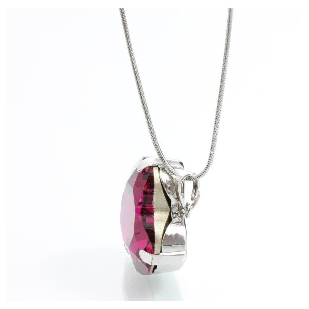 Náhrdelník so Swarovski Elements Laura Bruni Heart Fuchsia ... 3f478acdb72