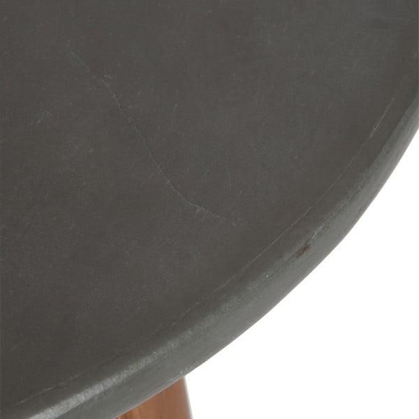 Odkladací stolík J-Line  Vintage Grey, 60cm