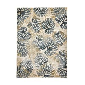 Krémovo-modrý koberec Think Rugs Tropics Cream & Blue, 120×170 cm