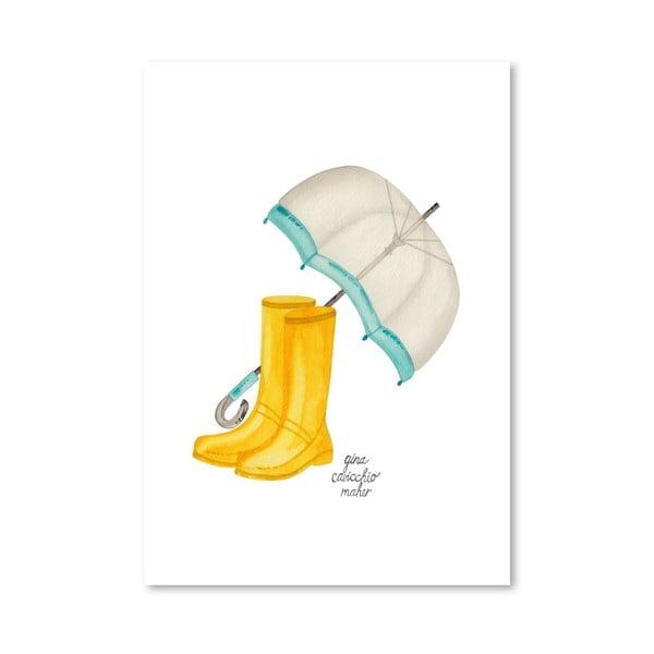 Autorský plagát Rain Boots, 30x42 m