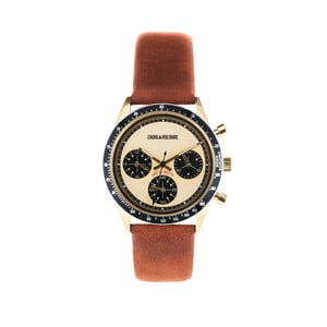 Dámske hodinky s koňakovohnedým koženým remienkom Zadig & Voltaire