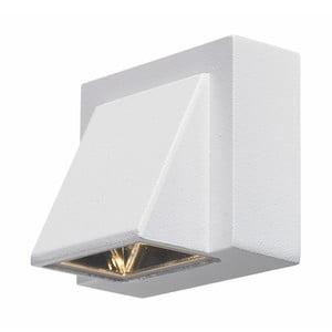 Biele nástenné svietidlo Markslöjd Carina, 8 x 7,5 cm