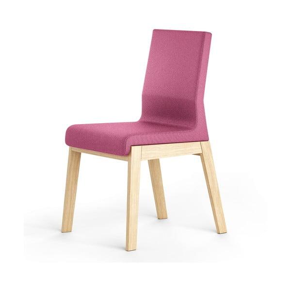 Ružová stolička z dubového dreva Absynth Kyla