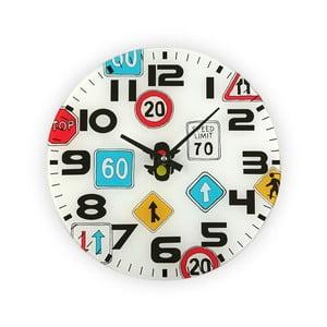 Nástenné hodiny Versa Traffic, 30 cm