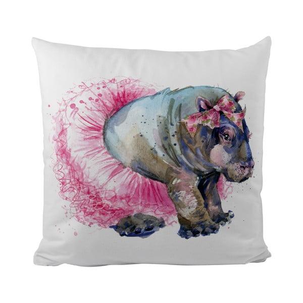 Vankúš Hippo Balerina, 50x50 cm
