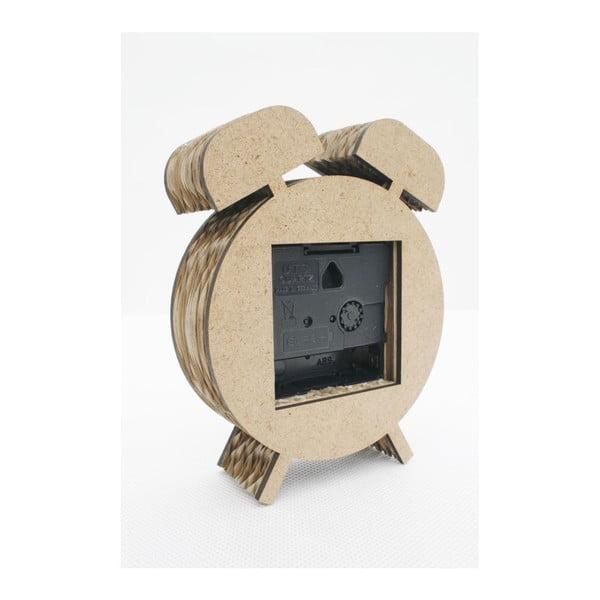 Kartónový budík mini Kartoons, prírodný