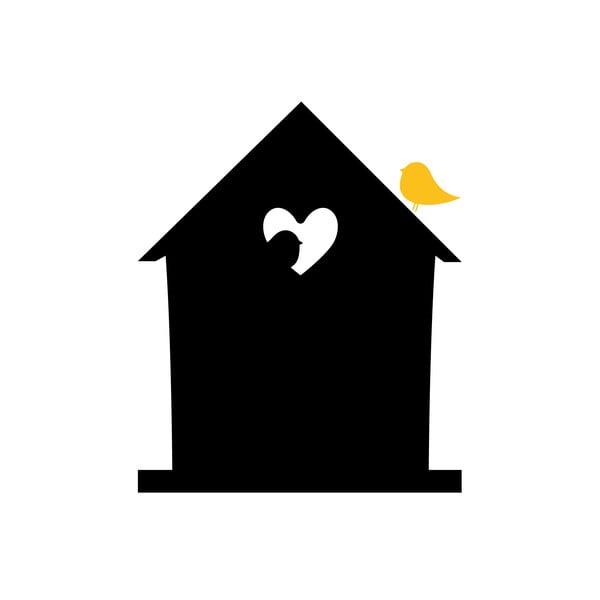 Dekoratívna tabuľová samolepka Bird Love