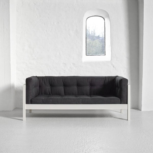 Dvojmiestna pohovka Karup Fusion White/Linoso Dark Gray