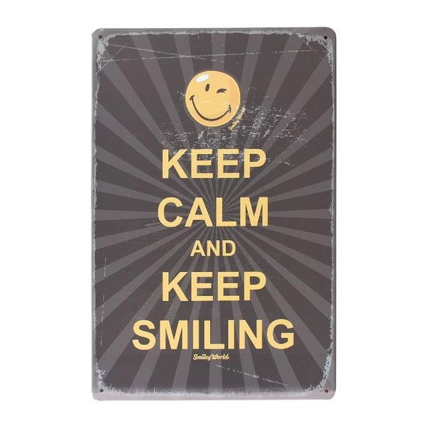 Ceduľa Keep Smiling, 20x30 cm