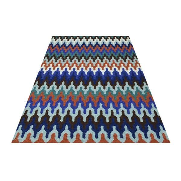 Vlnený koberec Zig Zag Multi, 140x200 cm