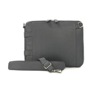 Sivá taška s ramenným popruhom z talianskej kože Tucano Tema