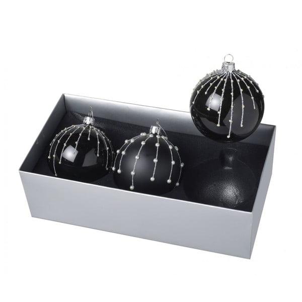 Vianočné ozdoby Dark Ball, 3 ks