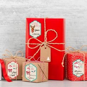 Sada 6 vianočných menoviek Ambiance Tags For Gifts