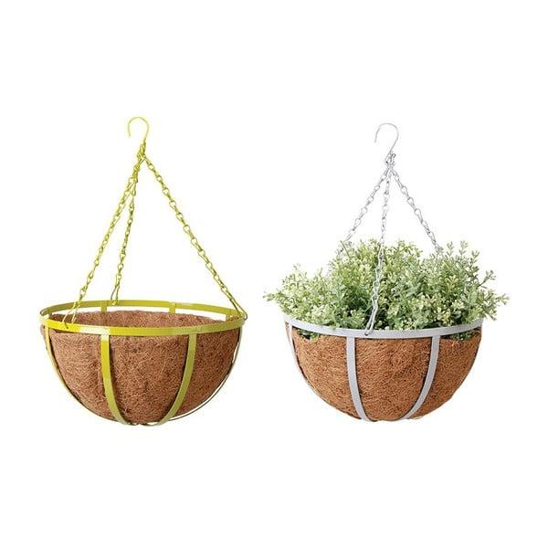 Sada 2 závesných kvetináčov z kokosových vlákien Magic, 30 cm