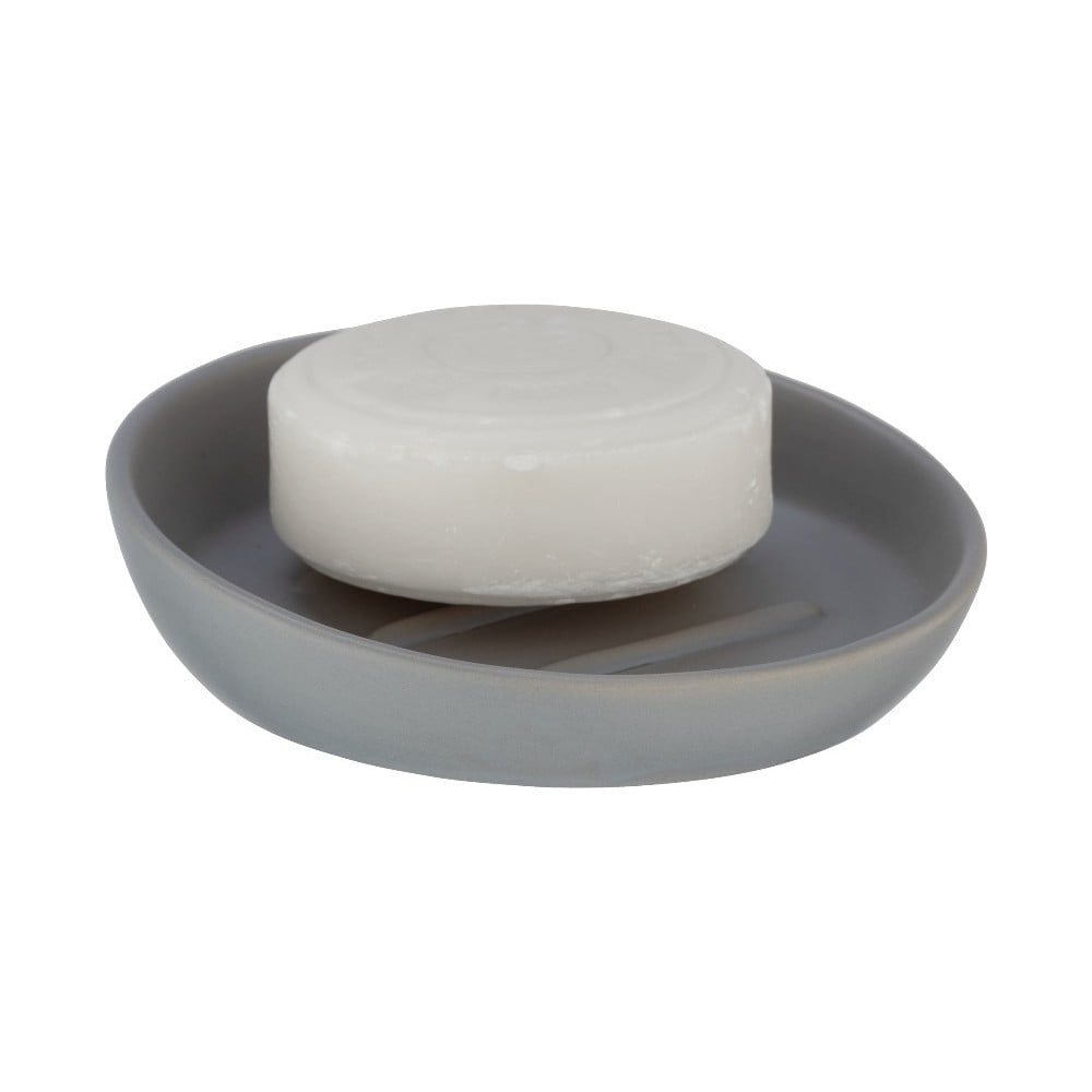 Sivá keramická nádoba na mydlo Wenko Badi