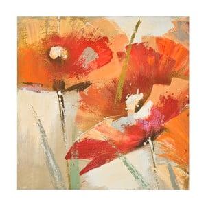Ručne maľovaný obraz Mauro Ferretti Flowers, 60 x 60 cm