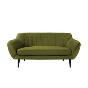 Zelená pohovka pre dvoch Mazzini Sofas Toscane, čierne nohy