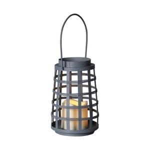 Sivý LED lampáš Best Season Petula