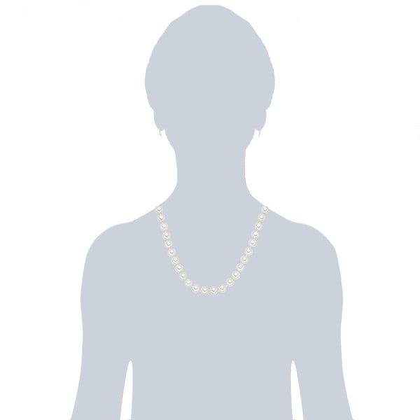 Náhrdelník s bielymi perlami⌀10 mm Perldesse Muschel, dĺžka 50 cm