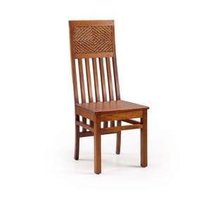 Mahagónová drevená stolička Flamingo