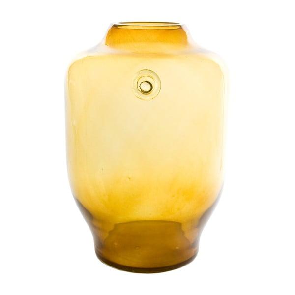 Sklenená váza, medová