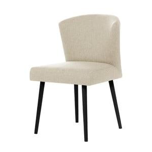 Krémová jedálenská stolička s čiernymi nohami My Pop Design Richter