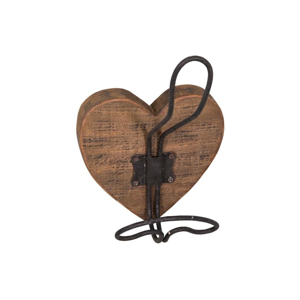 Nástenný drevený háčik Antic Line Corazon