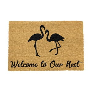 Rohožka Artsy Doormats Welcome To Our Nest Flamingo, 40 × 60 cm