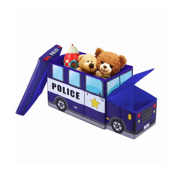 Detská taburetka s úložným priestorom Jocca Police Car