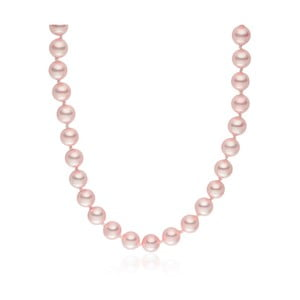 Ružový perlový náhrdelník Pearls Of London Mystic, 45 cm