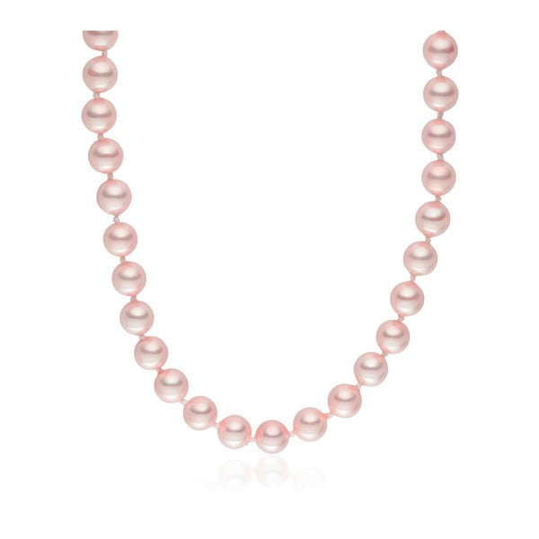 Ružový perlový náhrdelník  Pearls Of London Mystic, dĺžka 45 cm