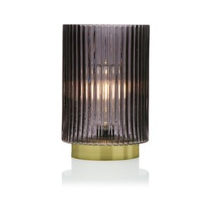 Sivá sklenená olejová LED lampa Versa Relax, ⌀15 cm